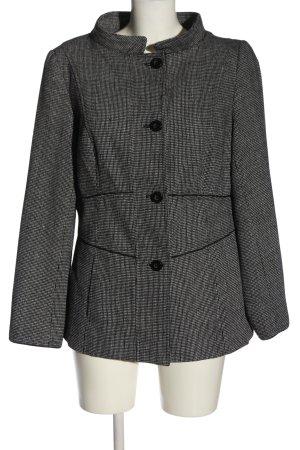 Alba Moda Manteau court gris clair-noir imprimé allover style d'affaires