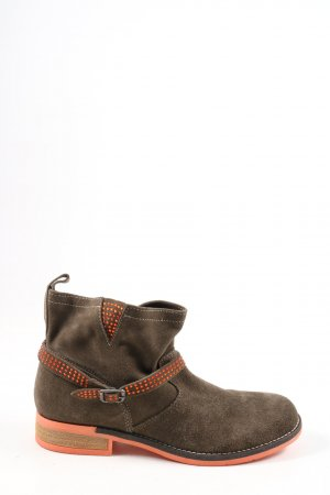 Alba Moda Botas bajas marrón-naranja claro look casual