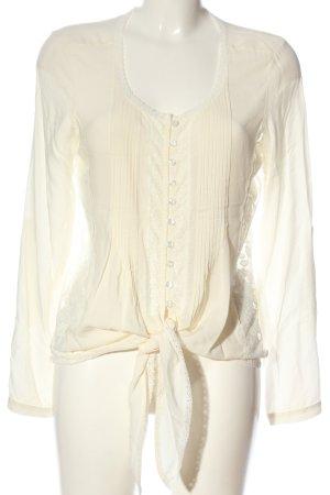 Alba Moda Blusa de manga larga blanco puro look casual