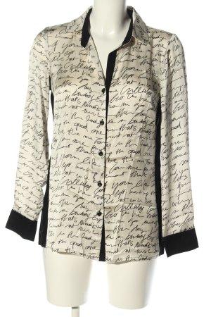 Alba Moda Long Sleeve Blouse natural white-black allover print casual look