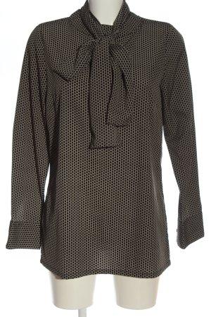 Alba Moda Long Sleeve Blouse black-cream spot pattern casual look