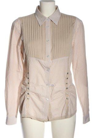 Alba Moda Koszula z długim rękawem kremowy-biały Wzór w paski W stylu casual