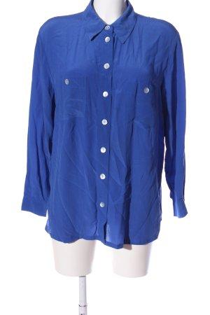 Alba Moda Shirt met lange mouwen blauw zakelijke stijl
