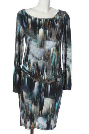 Alba Moda Jurk met lange mouwen abstract patroon casual uitstraling