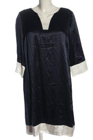 Alba Moda Sukienka z długim rękawem niebieski-biały Elegancki