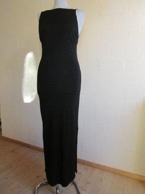 ALBA MODA: Langes schwarzes Kleid mit Rückenausschnitt, Gr. 36