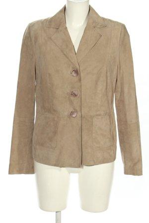 Alba Moda Leather Blazer natural white casual look