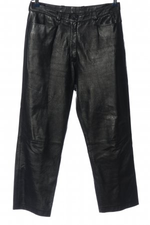Alba Moda Leather Trousers black casual look