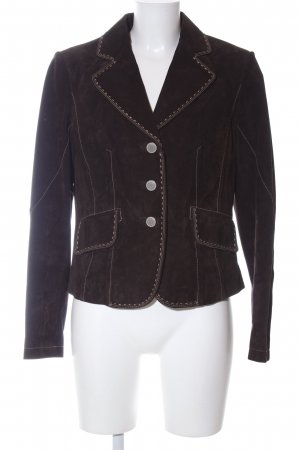 Alba Moda Lederjacke braun Business-Look