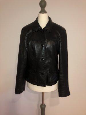 Alba Moda Leather Jacket black