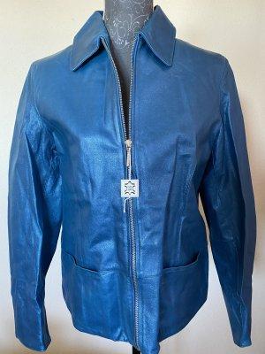 Alba Moda Veste en cuir bleu-bleu cadet