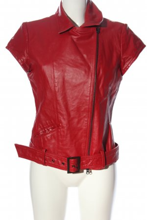 Alba Moda Skórzana kamizelka czerwony W stylu casual