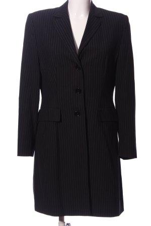 Alba Moda Long-Blazer schwarz-weiß Allover-Druck Business-Look