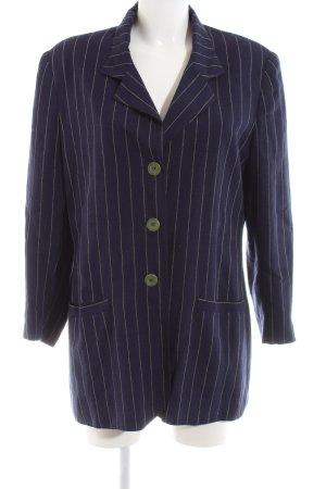 Alba Moda Long-Blazer blau Streifenmuster Business-Look