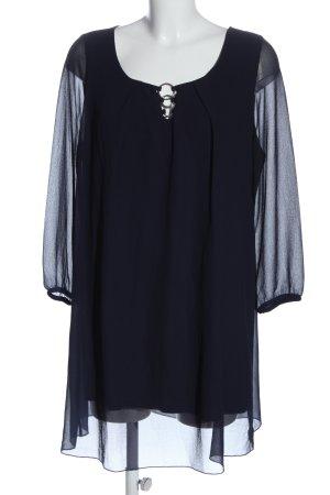 Alba Moda Blusa larga azul look casual