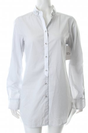 Alba Moda Long-Bluse graublau Business-Look