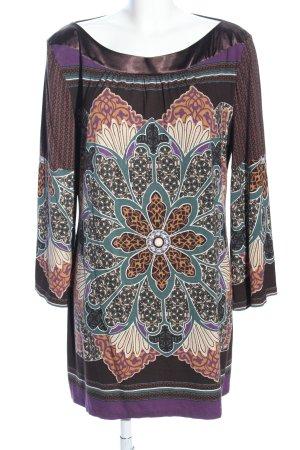 Alba Moda Haut long brun-violet motif de fleur style décontracté