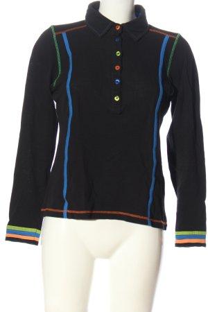 Alba Moda Longsleeve blue striped pattern casual look