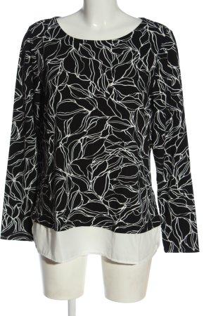 Alba Moda Manica lunga nero-bianco motivo astratto elegante
