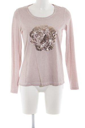 Alba Moda Longsleeve pink Blumenmuster Casual-Look
