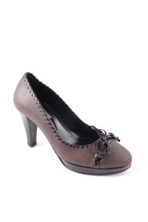 Alba Moda Mary Jane Pumps braun-schwarz Elegant