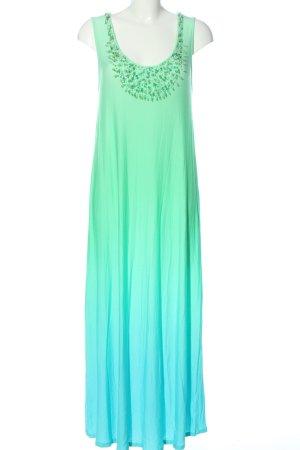 Alba Moda Robe d'été vert-bleu gradient de couleur style décontracté