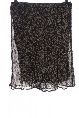 Alba Moda Spódnica midi czarny-brązowy Abstrakcyjny wzór W stylu casual