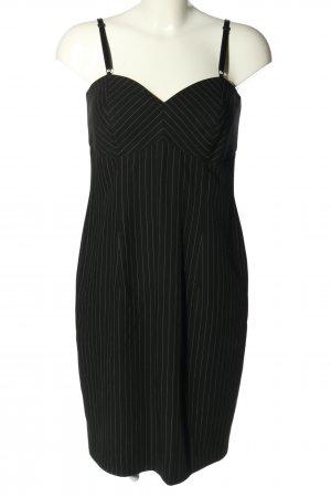 Alba Moda Sukienka mini czarny-biały Wzór w paski W stylu biznesowym