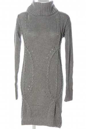 Alba Moda Sweaterjurk lichtgrijs Webpatroon casual uitstraling