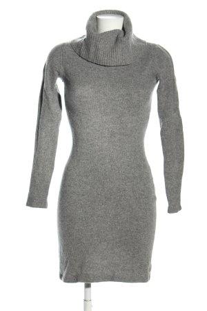 Alba Moda Swetrowa sukienka jasnoszary Melanżowy W stylu biznesowym