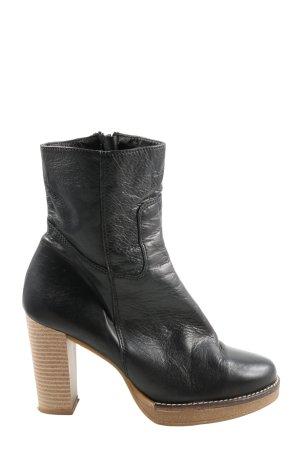 Alba Moda Reißverschluss-Stiefeletten schwarz Casual-Look
