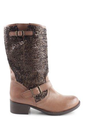 Alba Moda Botas de equitación marrón-color bronce look casual