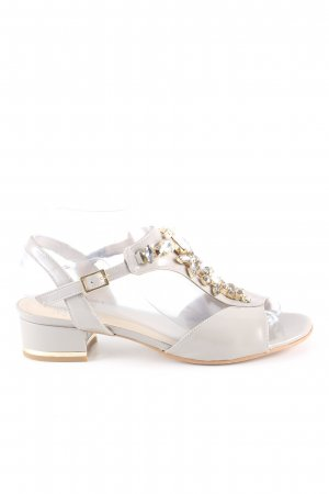 Alba Moda Riemchen-Sandaletten hellgrau Elegant