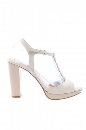 Alba Moda Sandalo con cinturino e tacco alto bianco sporco elegante