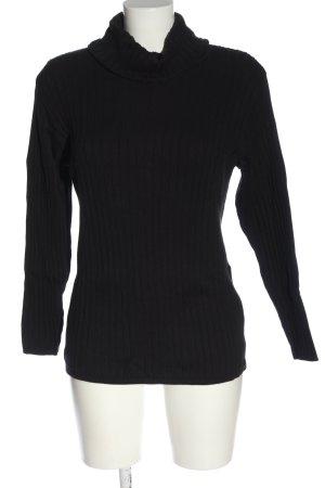 Alba Moda Turtleneck Sweater black striped pattern casual look