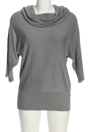 Alba Moda Turtleneck Sweater light grey flecked casual look