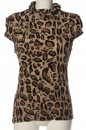 Alba Moda Neckholder Top brown-black leopard pattern casual look