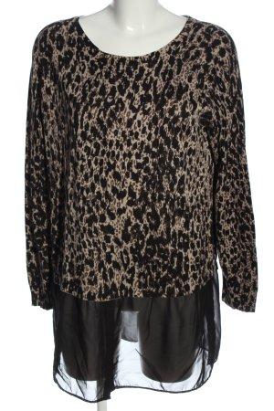 Alba Moda Maglione girocollo Stampa leopardata stile casual