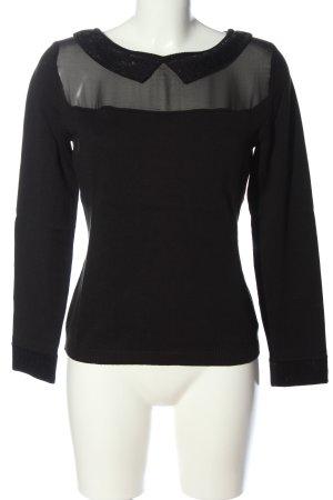 Alba Moda Sweter z okrągłym dekoltem czarny W stylu casual