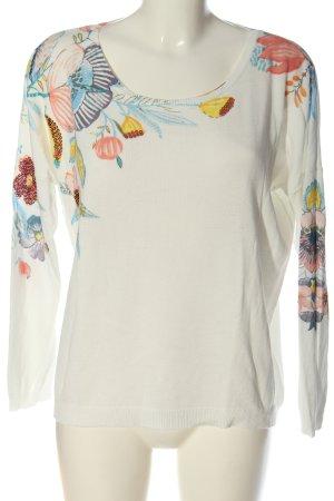 Alba Moda Sweter z okrągłym dekoltem Na całej powierzchni W stylu casual