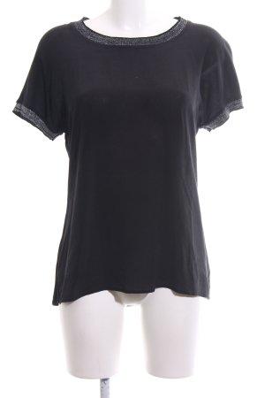 Alba Moda Schlupf-Bluse schwarz Casual-Look