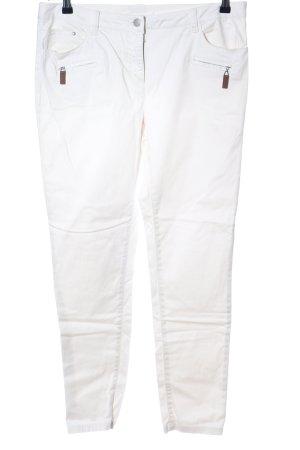 Alba Moda Jeans skinny blanc style décontracté