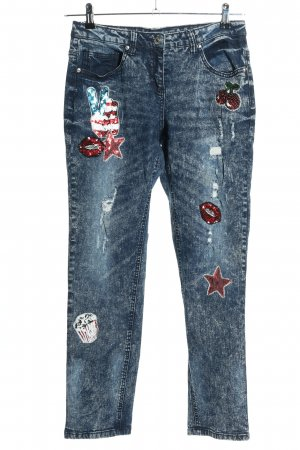 Alba Moda Dopasowane jeansy niebieski W stylu casual