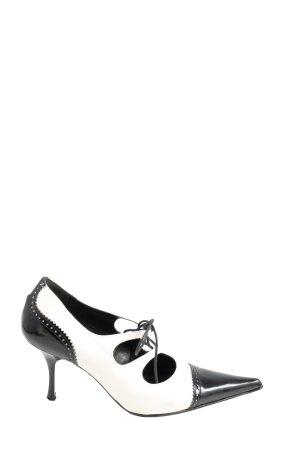 Alba Moda Spitz-Pumps schwarz-weiß extravaganter Stil