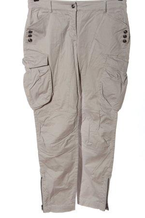 Alba Moda Spodnie materiałowe jasnoszary-czarny W stylu casual