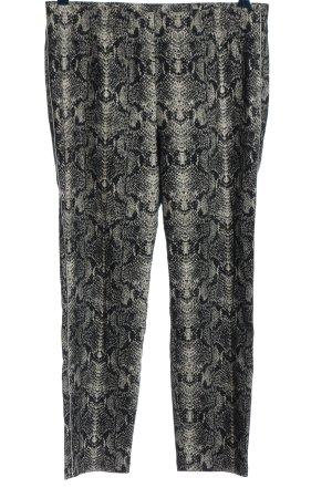 Alba Moda Spodnie materiałowe jasnoszary-czarny Zwierzęcy wzór W stylu casual
