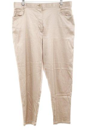 Alba Moda Jersey Pants beige wet-look