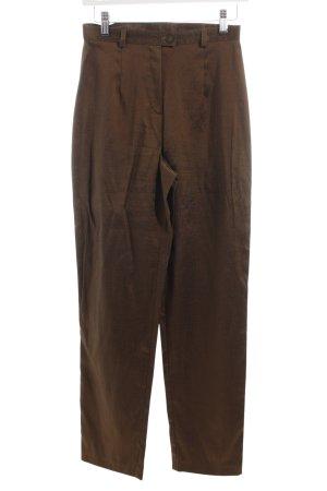 Alba Moda Jersey Pants dark green wet-look