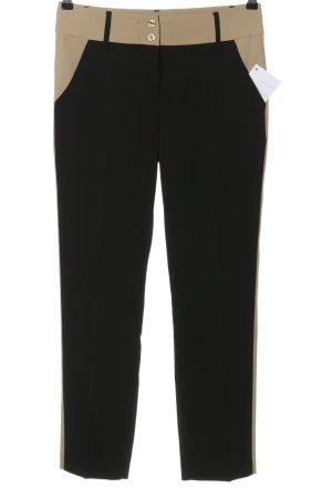 Alba Moda Pantalon en jersey noir-beige polyester