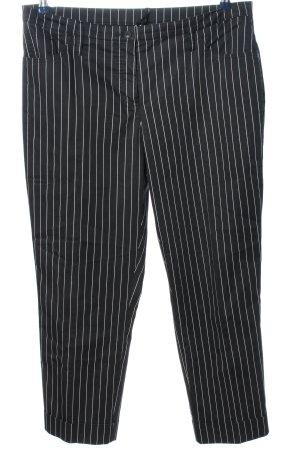 Alba Moda Jersey Pants black-white striped pattern business style
